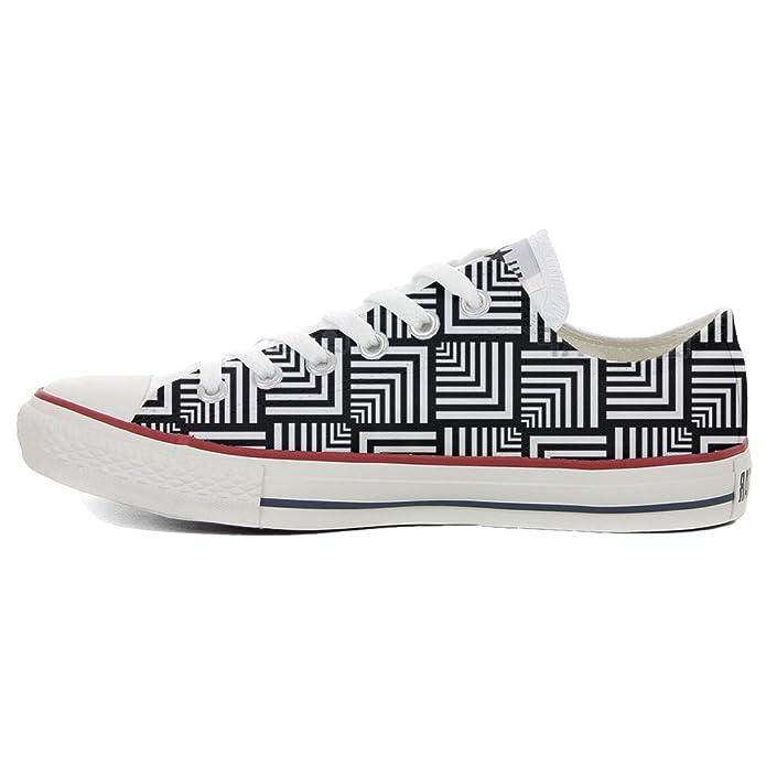 Converse All Star Slim, scarpe Personalizzate (scarpe artigianali) Geometric:  Amazon.it: Scarpe e borse