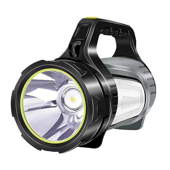 WRlight Proyector de Linterna, Foco de Mano de Alta Resistencia para Acampar Haz de luz Linterna antorcha lámpara de Doble Cara 1000 lúmenes 1000 Metros luz ...