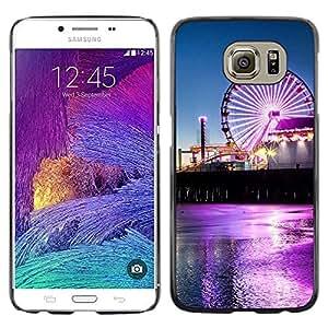 EJOY---Cubierta de la caja de protección la piel dura para el / Samsung Galaxy S6 / --Neon Circo