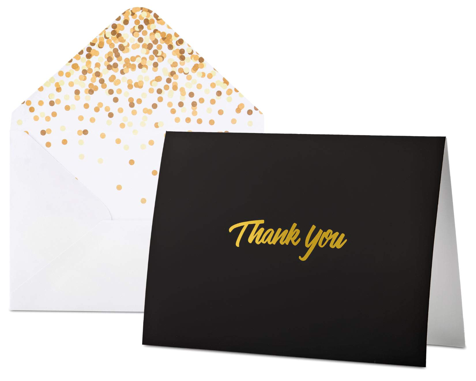 100 Thank You Cards With Envelopes Thank You Notes Black Gold