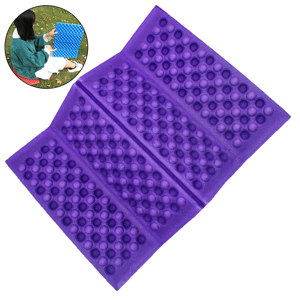 DierCosy Faltbare Schaum Sitzmatte im Freien Mat tragbare Falten Sitzkissen Wasserdichtes Geschirr Mat Lila