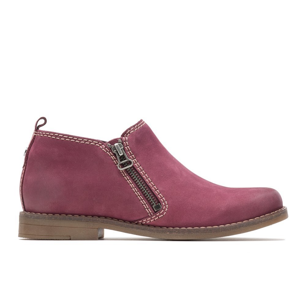 Hush Puppies Women's Mazin Cayto Ankle Bootie B07BGSP5XV 8.5 M US|Dark Wine Nubuck