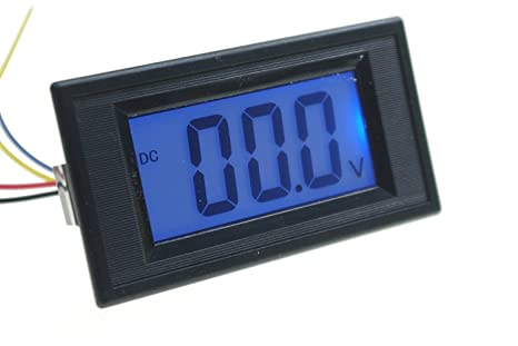 SMAKN® AC/DC Powered 4 Wire DC 0-200V(199.9V) LCD Panel Volt Meter on