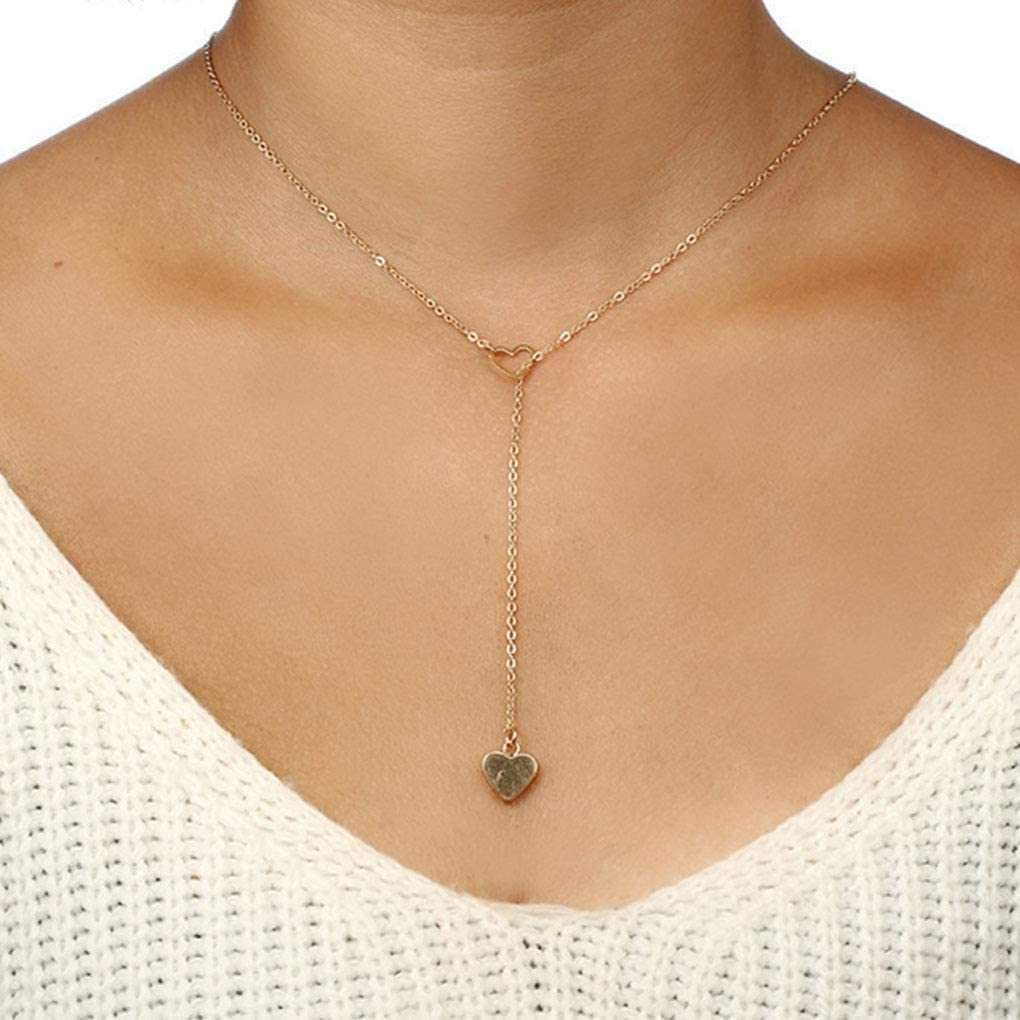 CanB Heart Lariat Necklace...