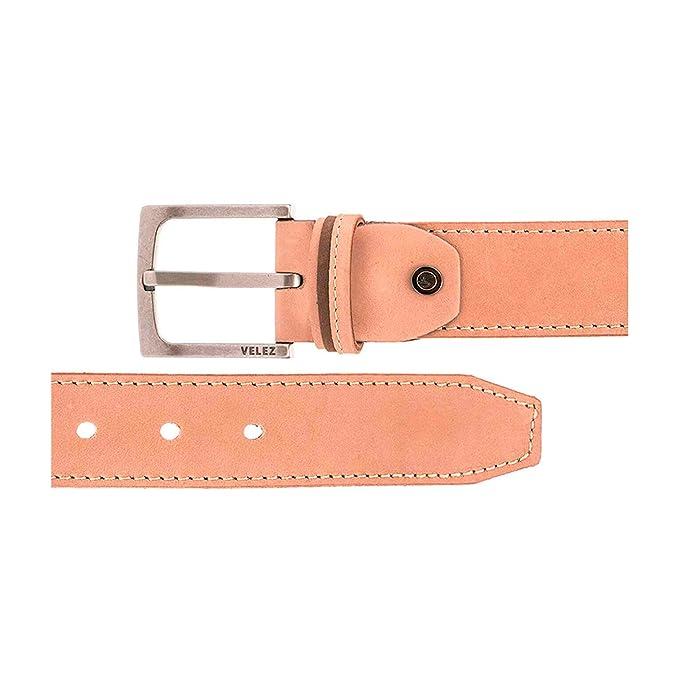 VÉLEZ Genuine Leather Belts For Men   Cinturones Cuero De Hombre at Amazon Mens Clothing store: