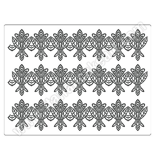 Small Flower Line Sugar Dress Silicone Lace Mat by Martellato