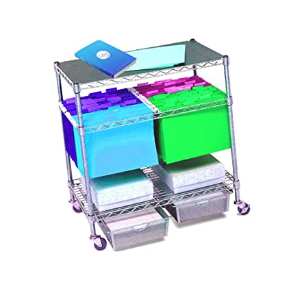ece086dbe5da Amazon.com : Rolling File Cart Legal Size Hanging Folder on Wheels ...