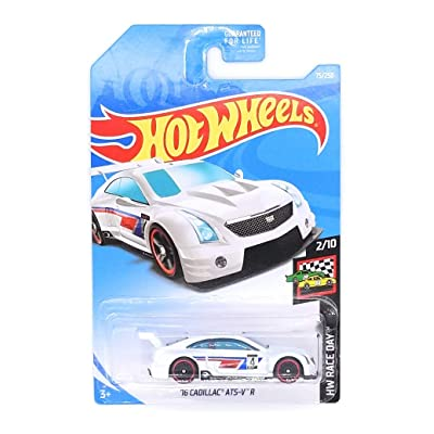 Hot Wheels 2020 Hw Race Day 2/10 - '16 Cadillac ATS-V R (White): Toys & Games