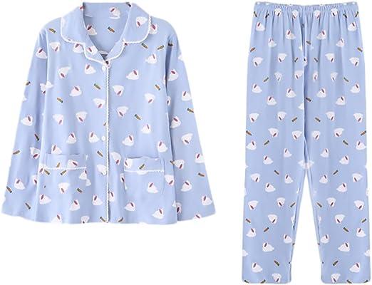 Pijamas Mujer Elegantes Impresión Dulce Lindo Manga Larga ...