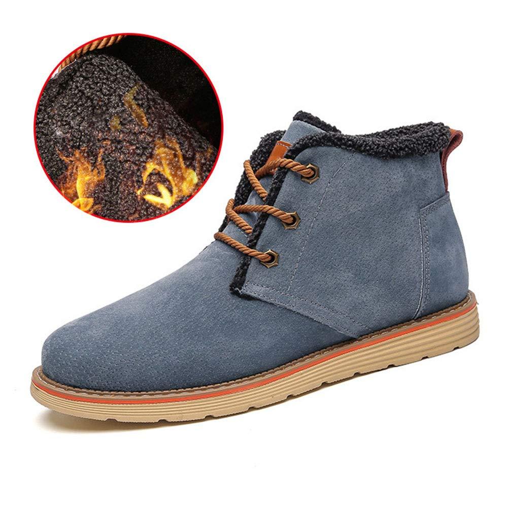 Männer Schuhe Herren Stiefel, Winter Plus Samt warme Schneeschuhe Sport Casual Schnürstiefeletten Hohe Baumwollschuhe Herrenmode Stiefel (Farbe : EIN, Größe : 43)