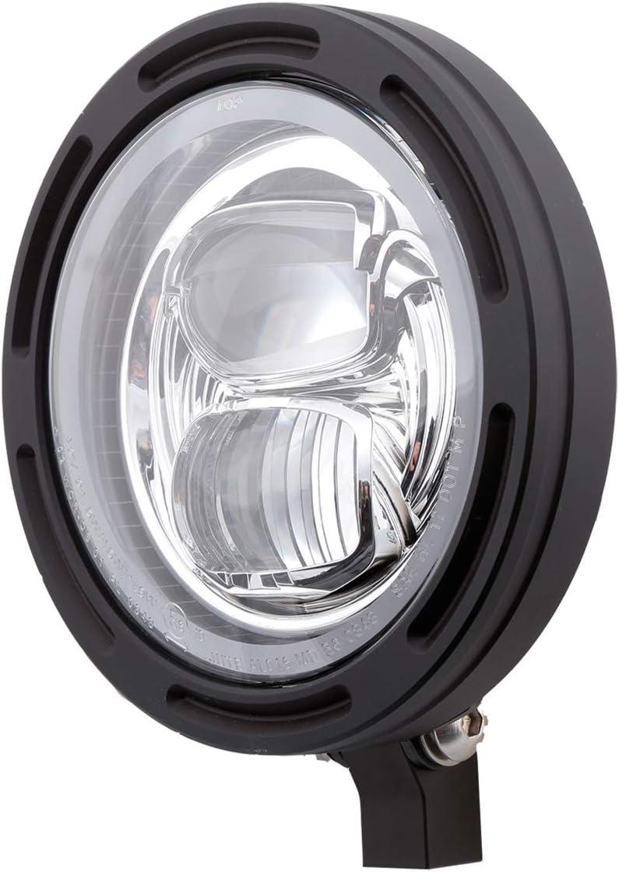 Highsider 5 3 4 Zoll Motorrad Led Scheinwerfer Frame R2 Typ 7 E Geprüft Untere Befestigung Auto