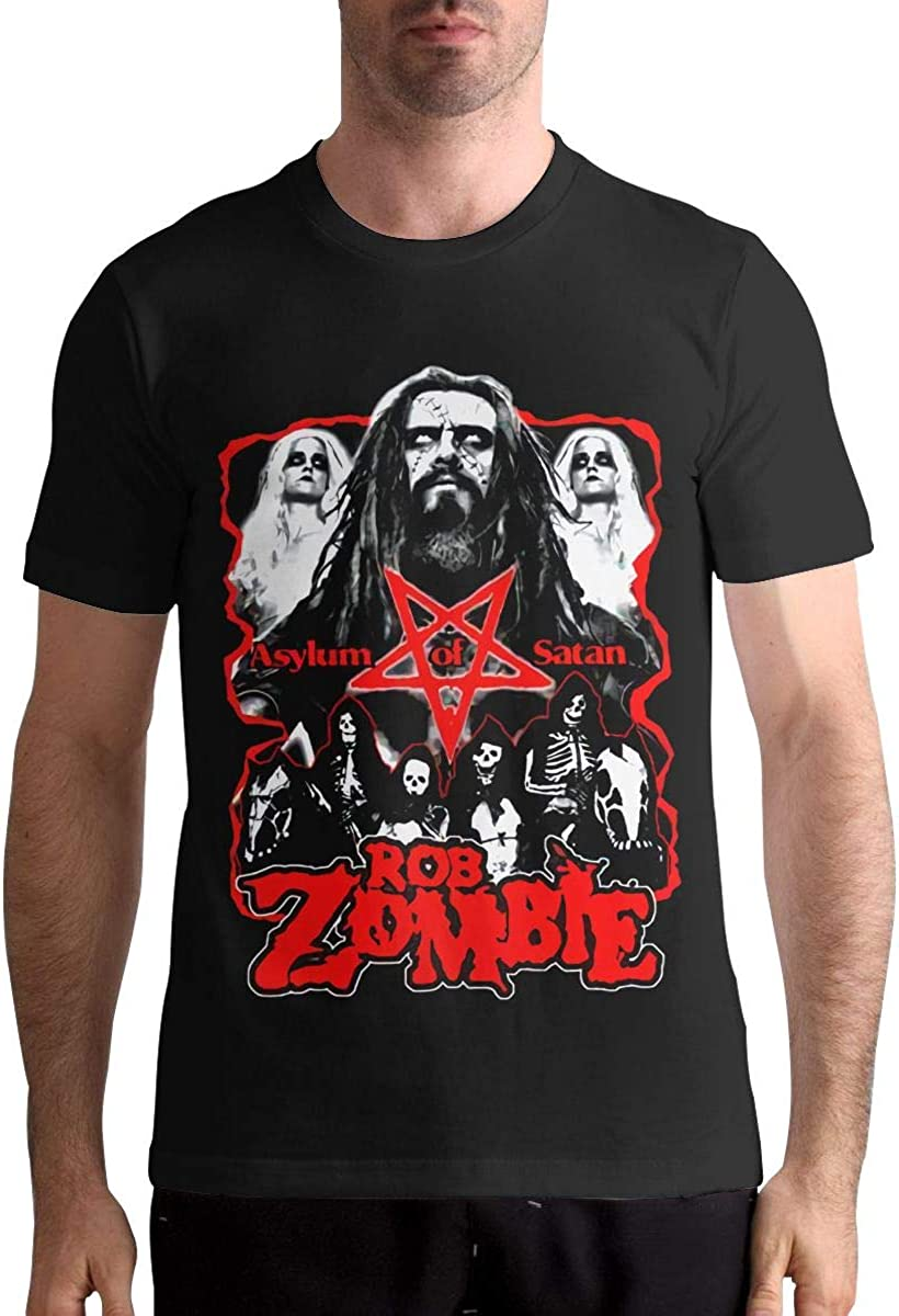 Rob Zombie T Shirts Mens Tops Short Sleeved Round Neck Cotton Shirt