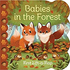 Introduce your baby or toddler to forest animals including foxes, deer, bears, beavers and more in this adorable lift-a-flap board book. Simple sentences reinforce future language structure while grasping and lifting the sturdy flaps helps de...