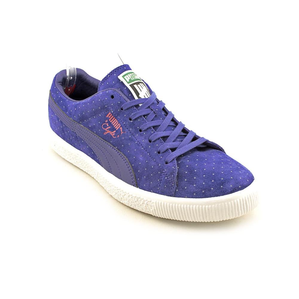 super cute f9df1 89ee6 Puma Clyde X Undftd Micro-Dot Mens Blue Suede Sneakers Shoes ...