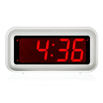 Amazon Com Kwanwa Digital Led Alarm Clock Battery Powered Only With