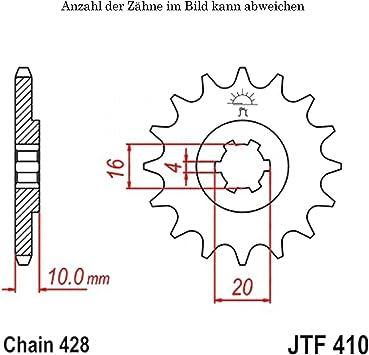 Ritzel 16 Zähne Für Gz 125 U Marauder Baujahr 1998 2004 Von Jtsprockets Auto