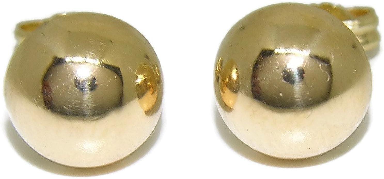 VERDE f Gioielli  orecchini oro 750/% 18 kt sfera lucida diam.3mm  O1999G €80,00