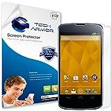 Nexus 4 Screen Protector, Tech Armor High Definition HD-Clear Google Nexus 4 Film Screen Protector [3-Pack]