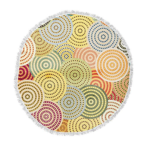 KESS InHouse Danny Ivan Matias Girl Round Beach Towel Blanket by Kess InHouse