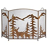 Koehler Home Décor RUSTIC FOREST FIREPLACE SCREEN