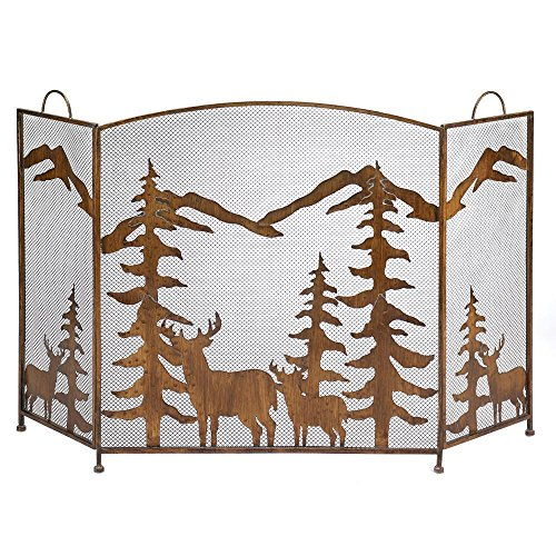 Koehler Home Décor RUSTIC FOREST FIREPLACE SCREEN by Accent Plus