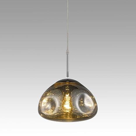 CLAXY Industrial Metal Cromo Iluminación Lamparas de techo ...