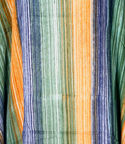 Tropicalsale Women's Green Orange Blue Stripe Caftan Tunic Top Big Plus Size