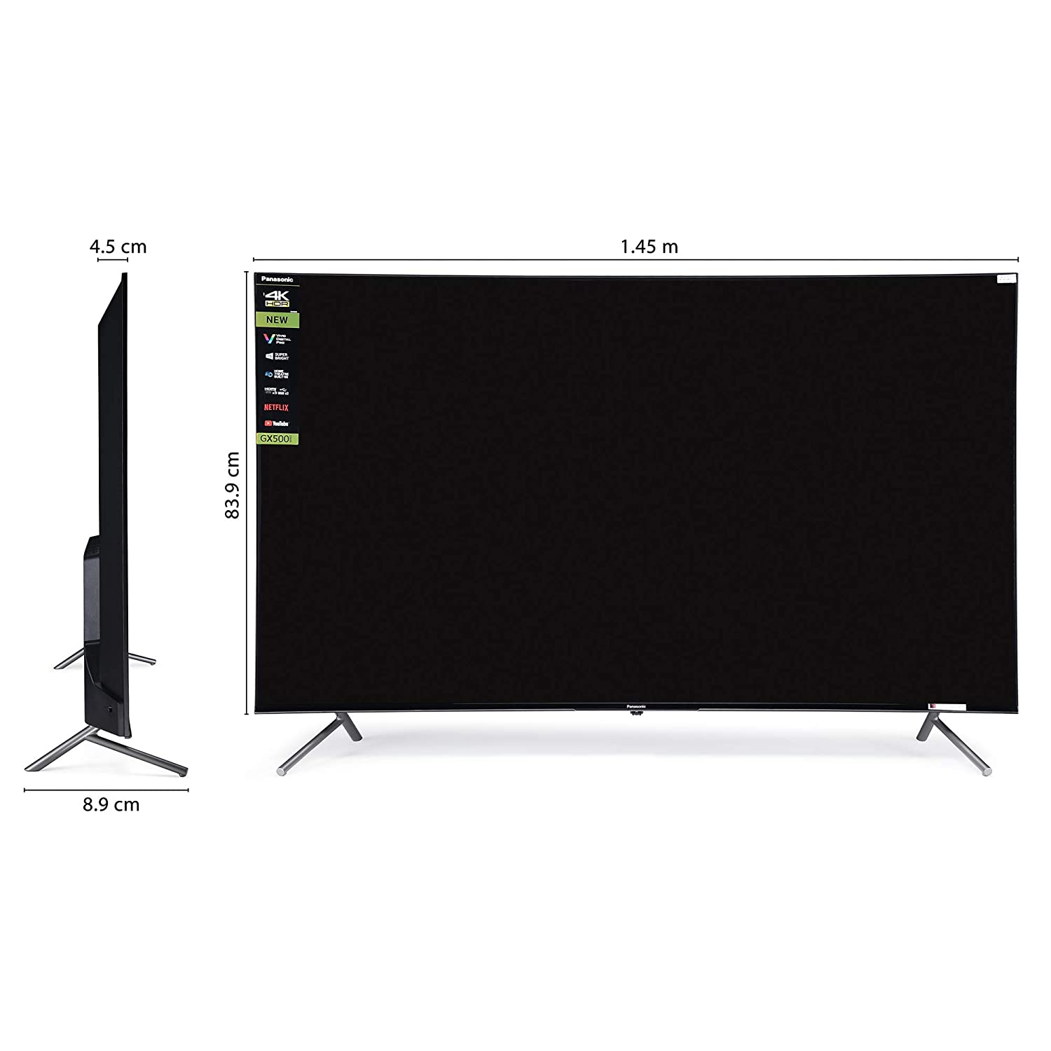 Panasonic TH-65GX500DX - Best 65 inch TVs in India - Quality Construction
