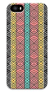 Color stripe Designed PC Materical DIY Phone Case for iphone 5/5s