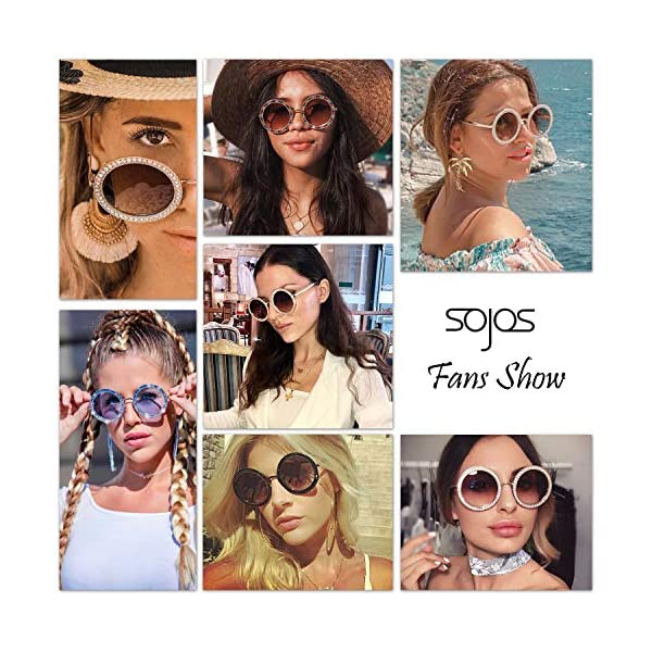 SOJOS-Round-Oversized-Rhinestone-Sunglasses-for-Women-Diamond-Shades-SJ1095-SJ1090