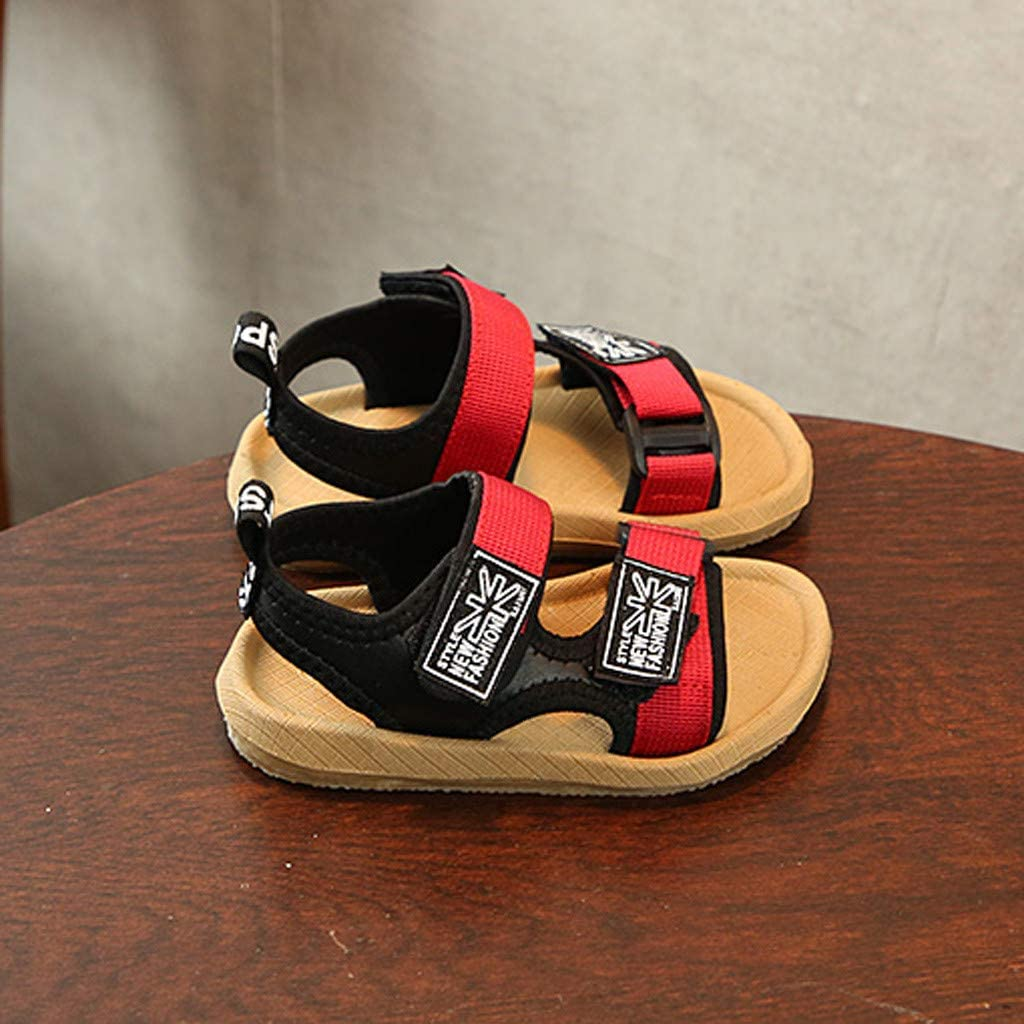 Efaster Baby Boy Beach Sandals Sneaker Toddler Patchwork Casual Single Shoes 1-6Years