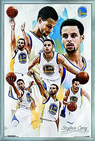 Trends International Golden State Warriors Stephen Curry Champ Wall Poster 22.375 x 34