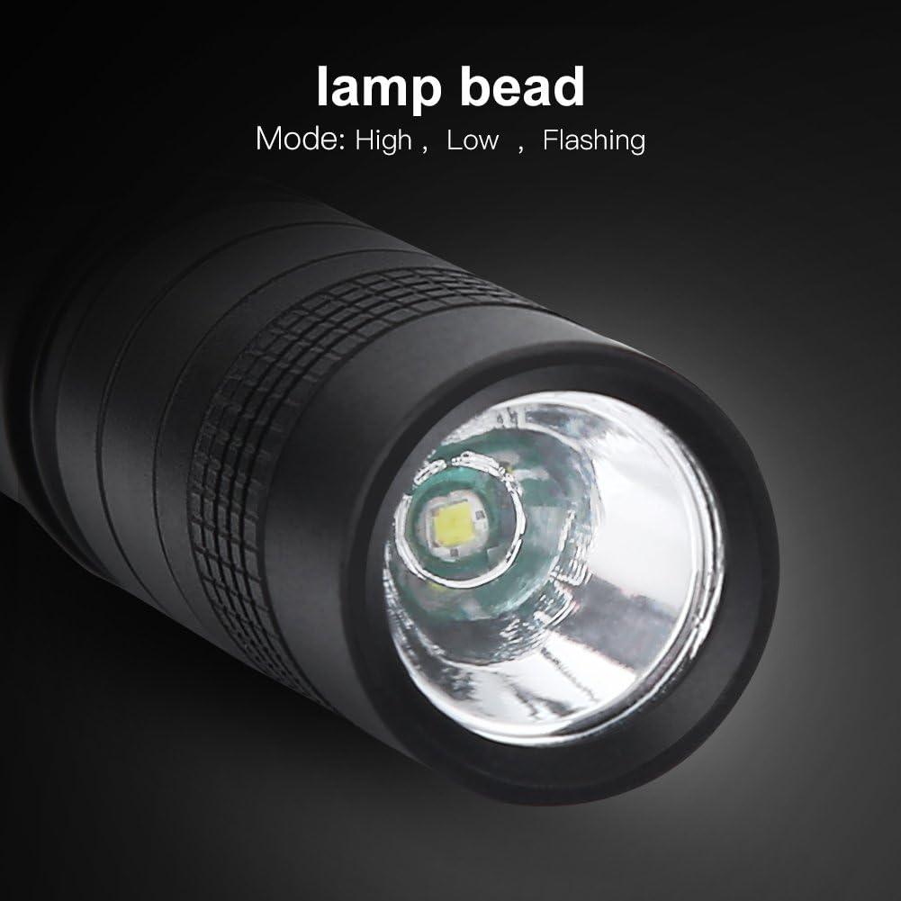 Mini Lampe de Poche Torche LED Tactique Forme de Stylo L/éger Ultra Lumineuse 1200LM Imperm/éable Quotidien en Alliage dAluminium Noir pour Randonn/ée Camping