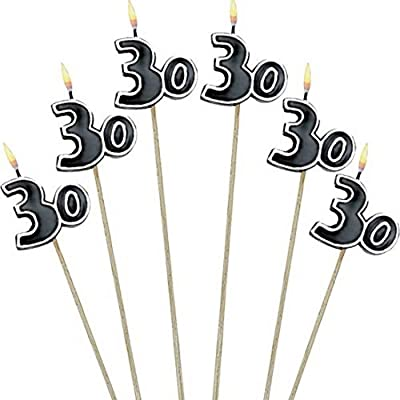30th Celebration Candles on a Stick, Party Favor: Birthday Candles: Kitchen & Dining