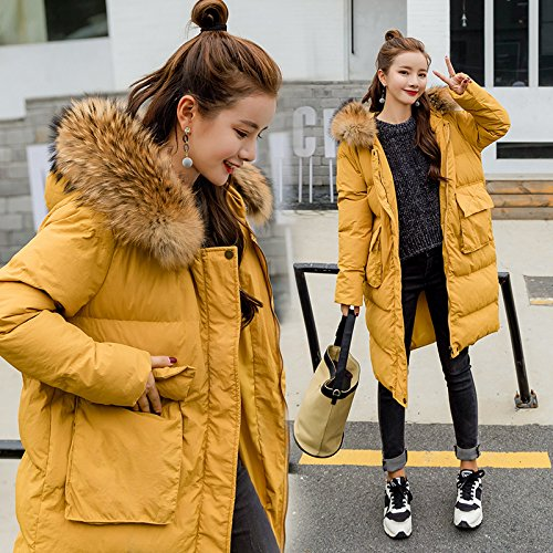 Cotton Winter Cotton High Thin Bread To Female yellow Jackets The Clothing Xuanku Video Coat Thick Collar Long Warm Cap Even qWgwE06Od