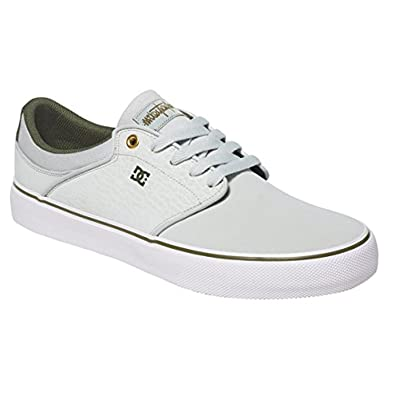 DC Mens Mikey Taylor Vulc Shoes, Grey/White/Green, 6D