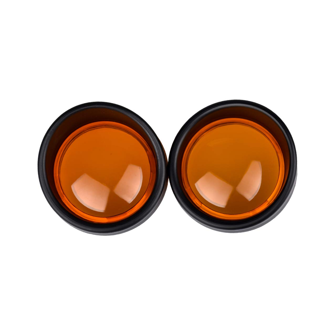 TUINCYN Black Motorcycle Turn Signal Bezels Visor-Style with Orange Lens Cover for Harley Sportster 883 1200 XL 48 72 Fatboy Dyna V-Rod Breakout Softail FLST/FLSTC (Pack of 2)