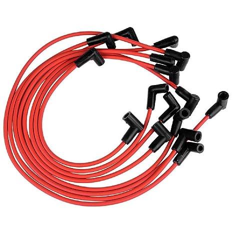 31359 Bujía Cables en espiral Core 8,5 mm Rojo 90 DEG SBC Chevy pequeño