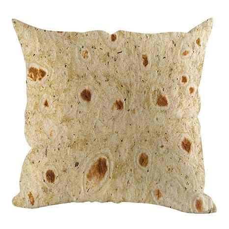 LEEDY - Funda de cojín de Felpa con Estampado de Burritos ...