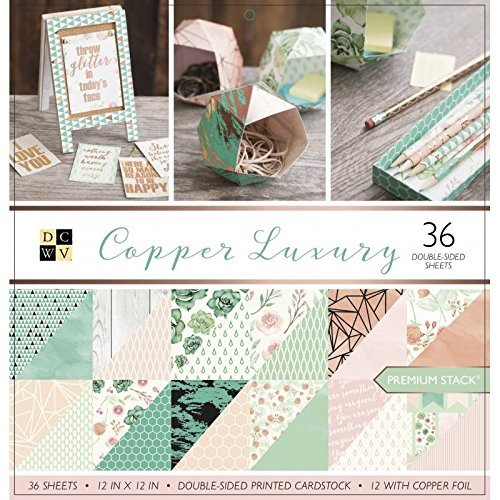 DCWV Card Stock 12X12 Stack Copper Luxury, 36 Sheets ()