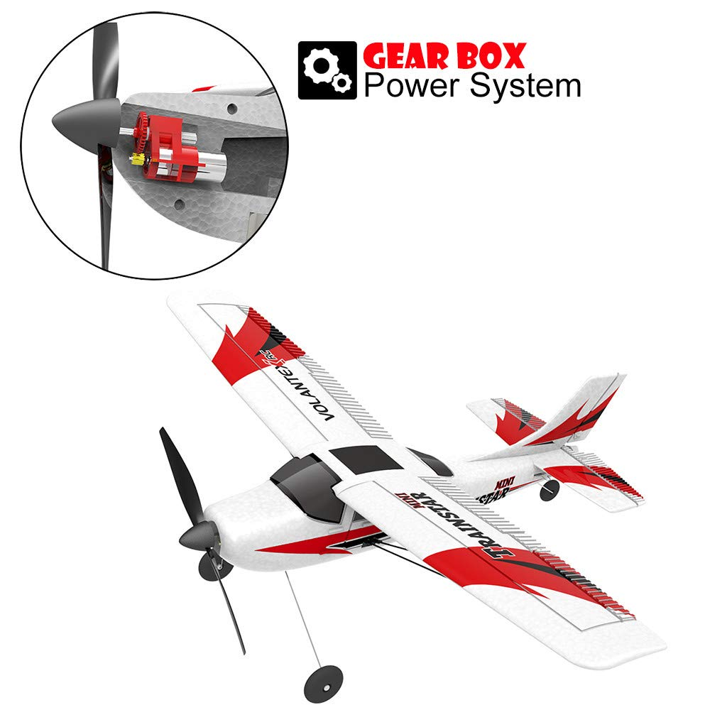 COLOR-LILIJ RC Airplane with 2.4GHz Over 320 ft Control, 6-Axis Gyro, 3-Level Flight Control assists - Help Beginners Learn to Fly Step by Step, Easy to Fly 761-1 RTF Plane for Beginners,US Stock by COLOR-LILIJ (Image #7)