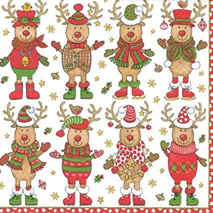 cocktail napkins party supplies entertaining christmas party holiday party christmas sweater pk 40