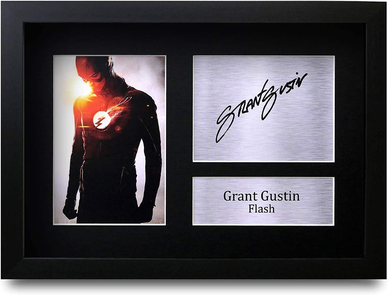 HWC Trading Grant Gustin A4 Incorniciato Firmato Regalo Visualizzazione delle Foto Print Immagine Autografo Stampato per The Flash TV Show Fan
