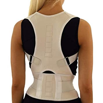 958d3f71c05 Image Unavailable. Image not available for. Color  Male Female Adjustable  Magnetic Posture Corrector Corset Back Back Belt Lumbar Support Straight  Corrector