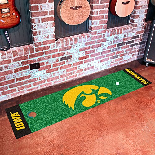 University of Iowa Putting Green Mat for Golf - Hawkeyes Iowa Putter Golf