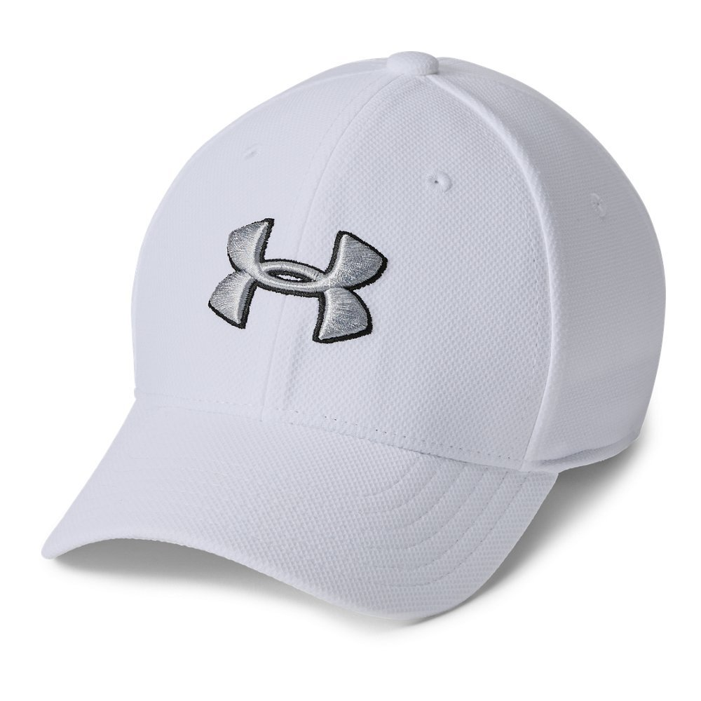 Under Armour Boys' Blitzing 3.0 Cap, White (100)/Steel, Youth X-Small/Small