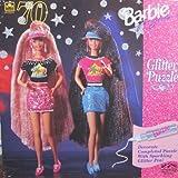 GLITTER HAIR Barbie & Teresa GLITTER PUZZLE 70 Pieces & Sparkling Glitter Pen (1994 Golden)
