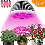 Kushina LED Grow Light bulb, High Efficient Hydroponic Plant Grow Lights system for Hydroponic Aquatic (12w 3 Bands)
