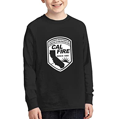 amazon com cal fire logo california strong long sleeve t shirt tee