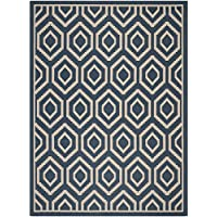 Safavieh Courtyard Collection CY6902-268 Navy and Beige Indoor/ Outdoor Area Rug (9 x 12)